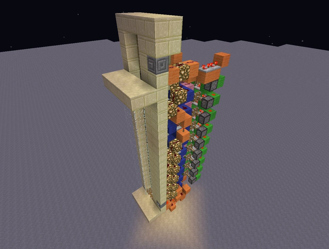Minecraft Fast Up And Down Piston Elevator V2 Minecraft Project