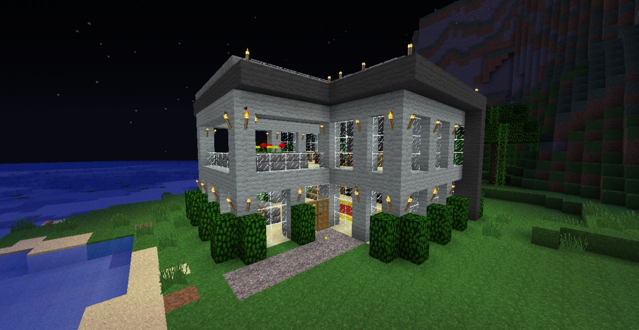 Modern House 18x18 + imelapse HD Minecraft Project - ^