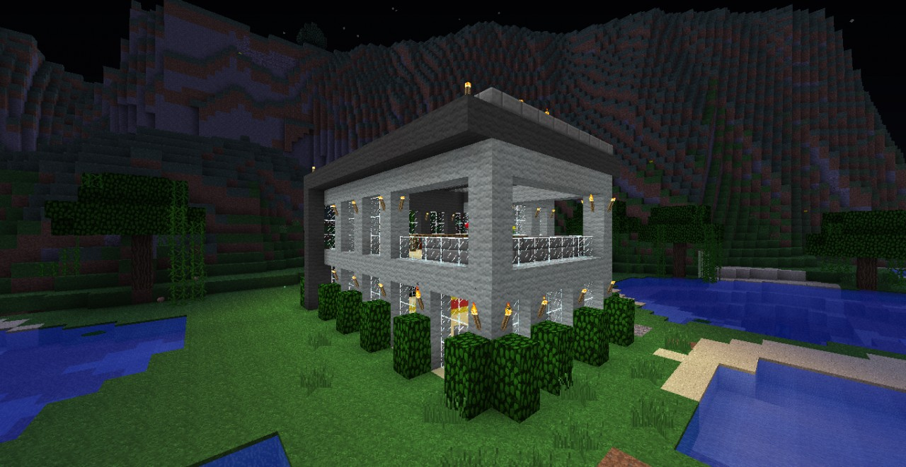 Modern House 18x18 + imelapse HD Minecraft Project - ^