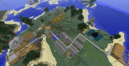 my little islan with a village and a  big bunker Minecraft Map & Project