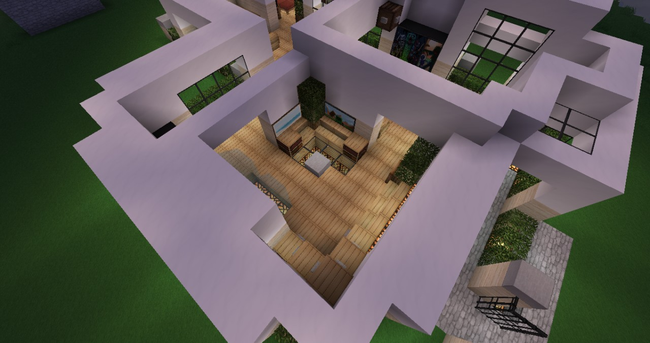 Modern house interior minecraft project for Modern house inside