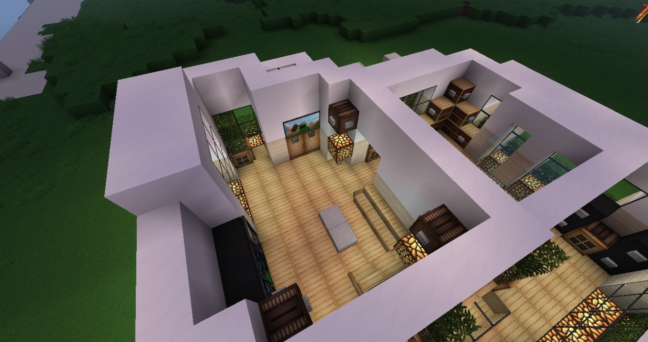Modern house interior Minecraft Project