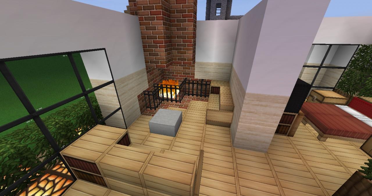 Modern house interior Minecraft Project