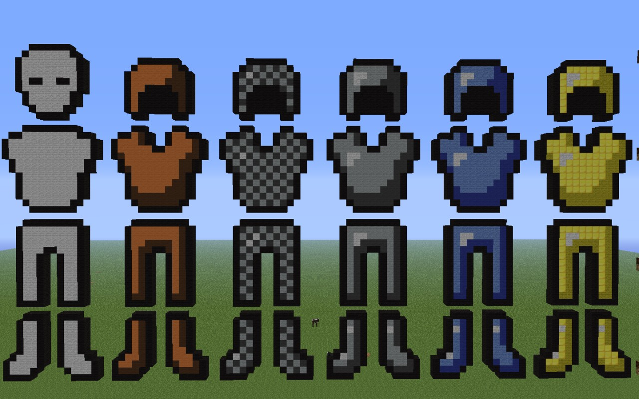 Minecraft Diamond Armor Pixel Art Download