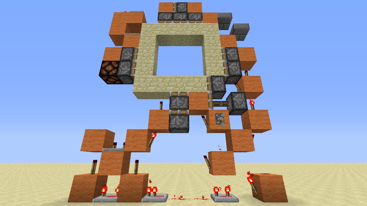 Minecraft Piston Door 3x3 Minecraft One Whide 3x3 Piston