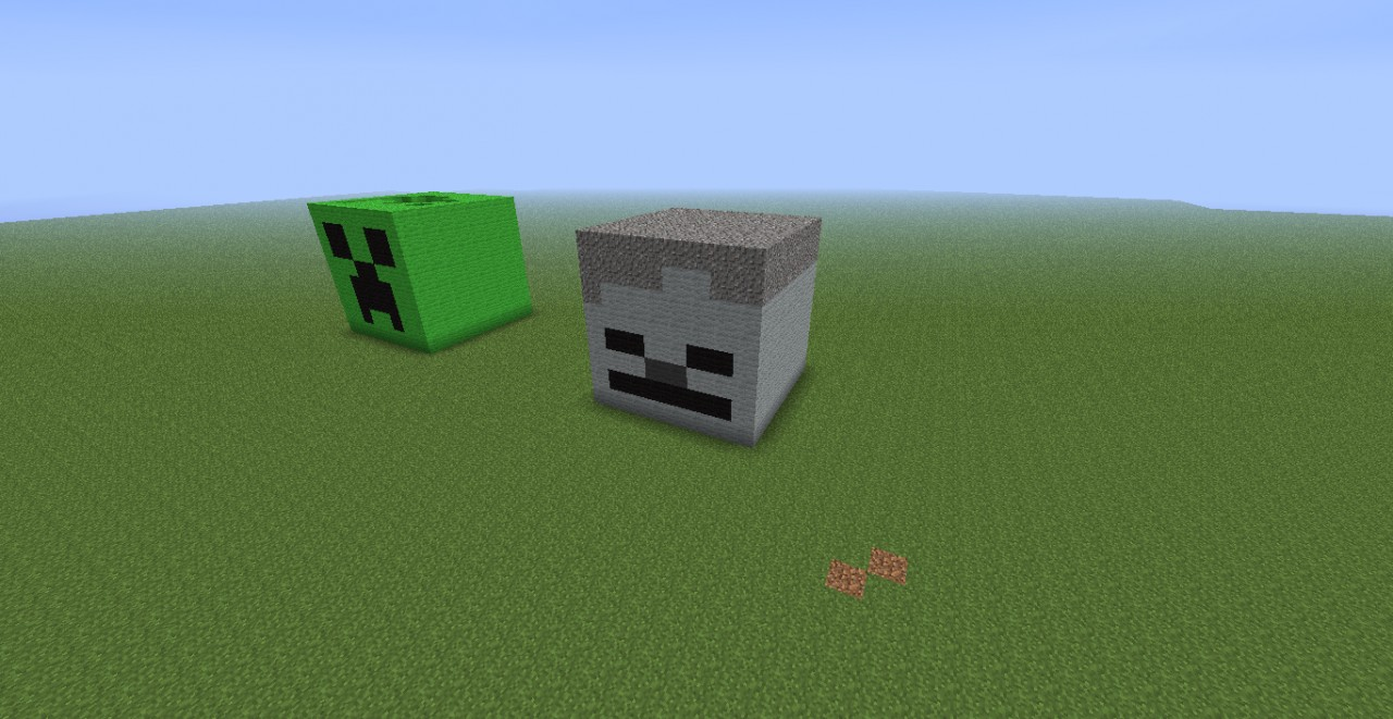 3D Skeleton Head! Minecraft Project