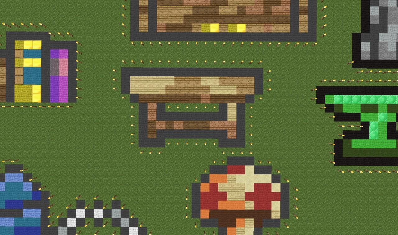 Random terraria items pixel art kaunas minecraft project for Minecraft carpentry bench