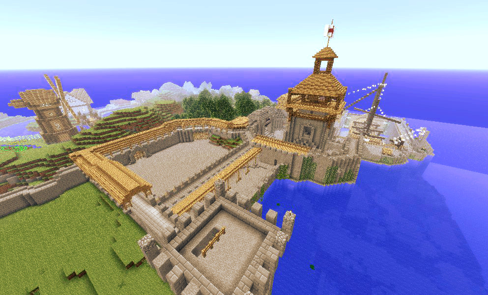 Medieval Shipyard Minecraft Project