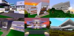 Modern House Bundle - 9 structures Minecraft Map & Project