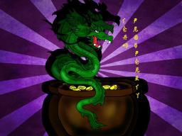 The Money Dragon --GirlyCrafter's Art Contest Minecraft Blog