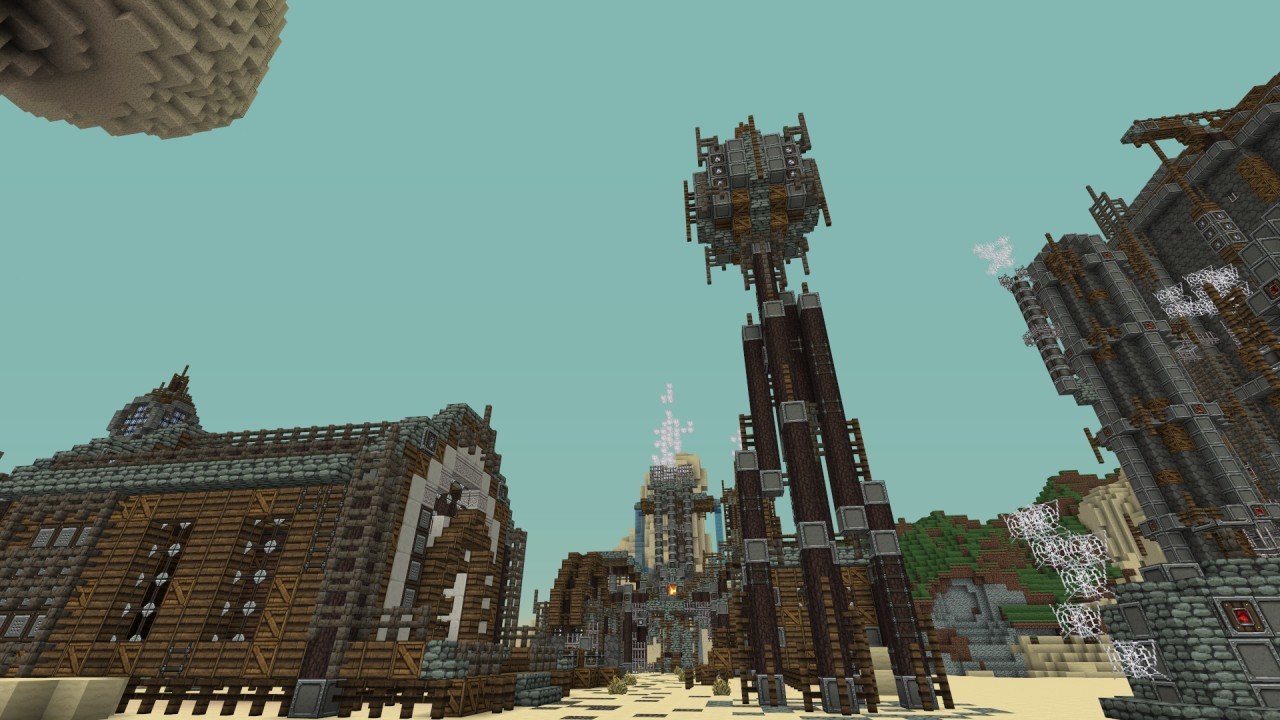 Western Steampunk City Minecraft Project