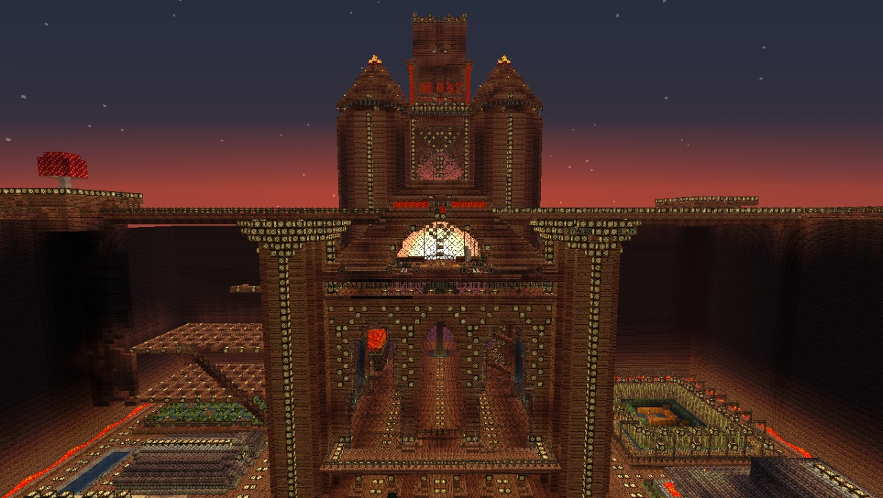 Minecraft nether brick castle brick castle front