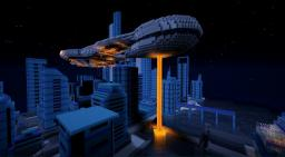Halo Convenant ship in minecraft Minecraft