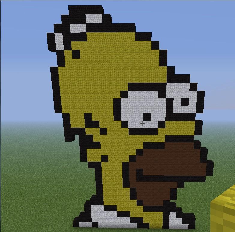 Homer Simpson Minecraft Project