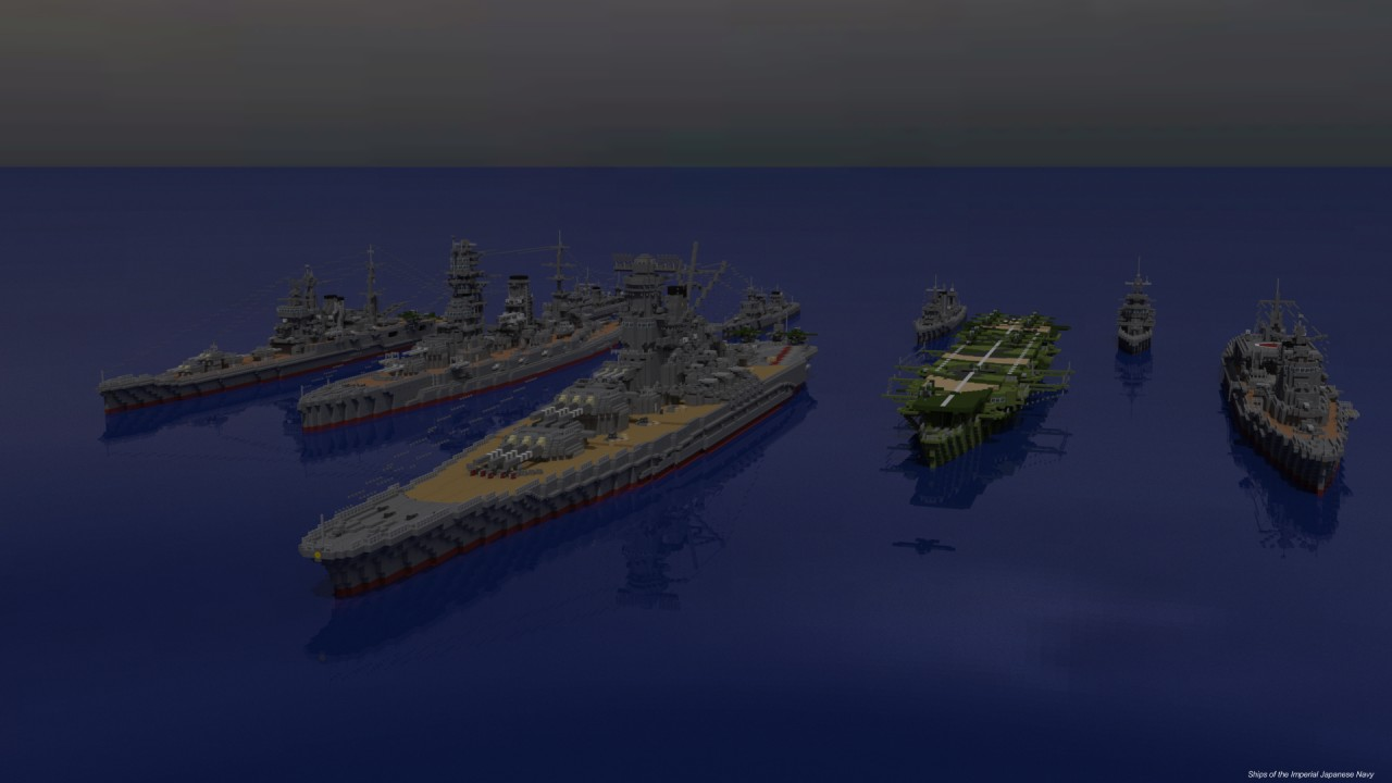 Ships Of The Imperial Japanese Navy IJN Minecraft Project - Minecraft grobe hauser download