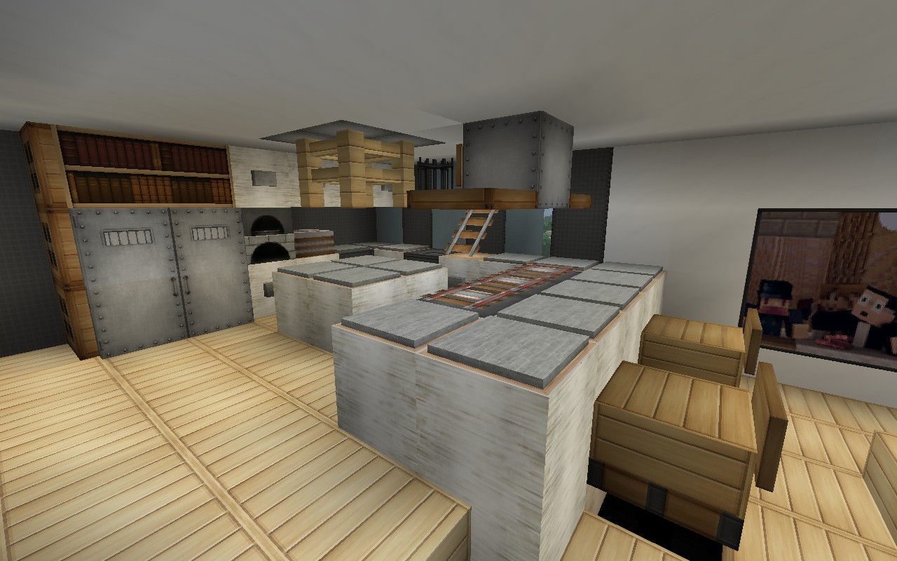 Minecraft modern kitchen designs for Kitchen ideas minecraft