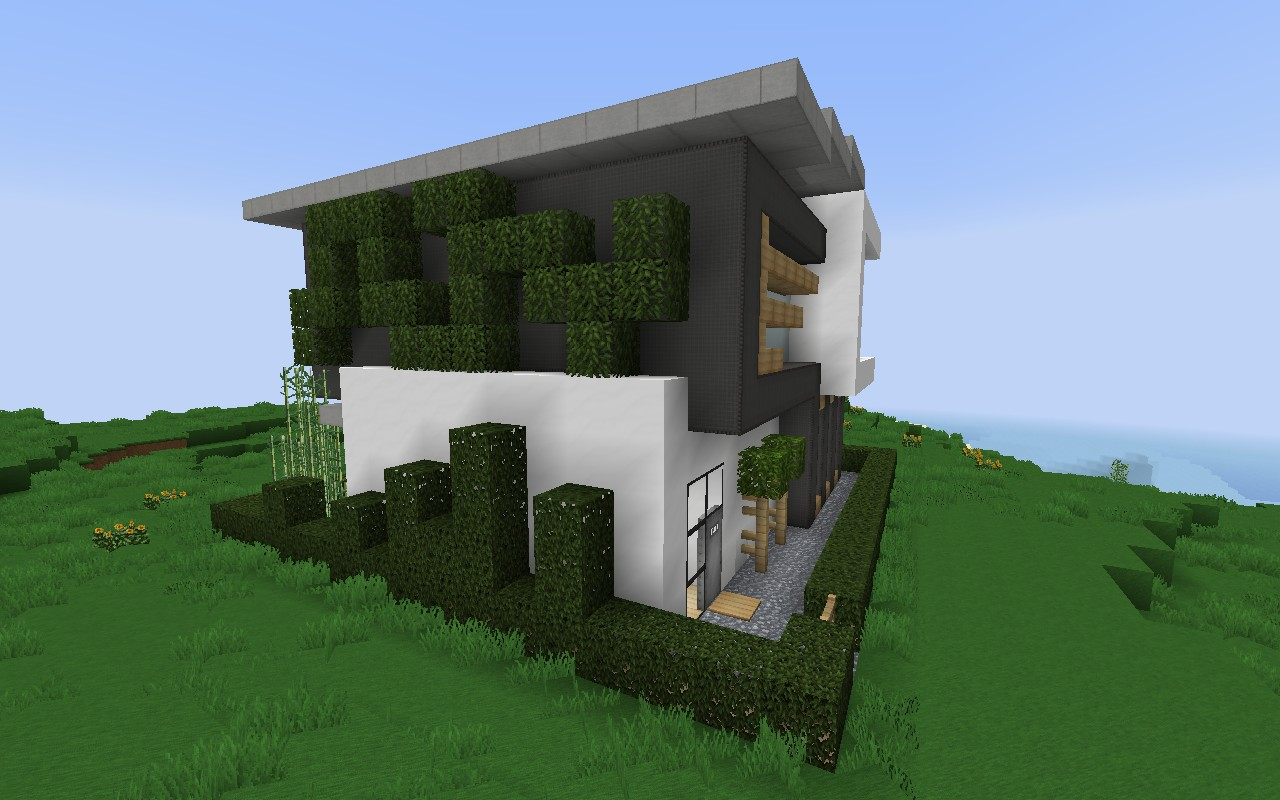 HD wallpapers maison moderne minecraft 16x16