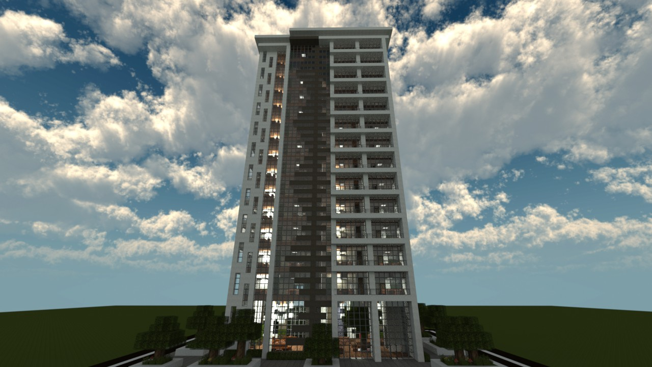 Luxury Apartments Minecraft Project - Minecraft modern apartment building