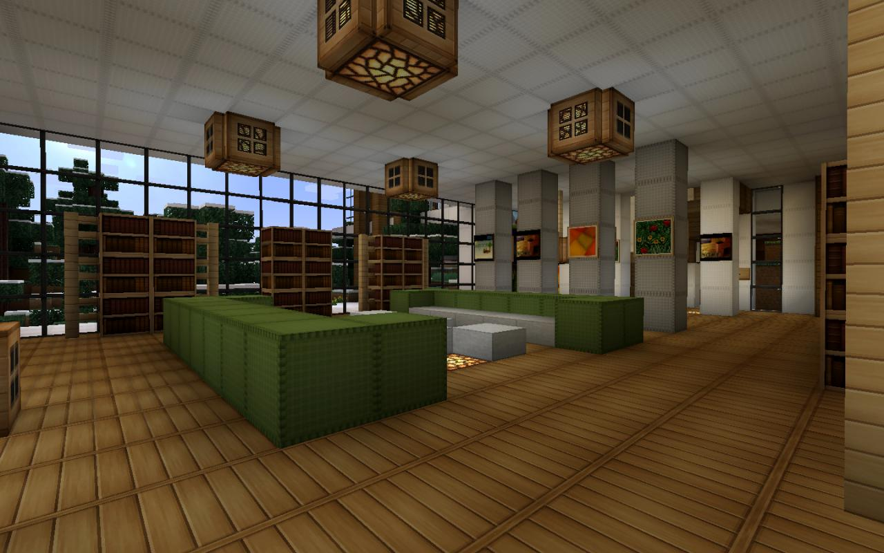 Modern house series 3 minecraft project Living room furniture minecraft