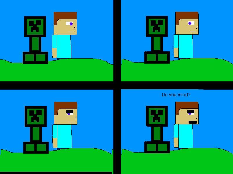 creeper comic minecraft blog