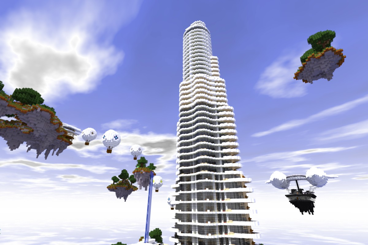 The Main tower stretches from the island to the Sky Limit