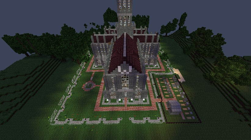 Huge church, loot inside and also in the graves outside