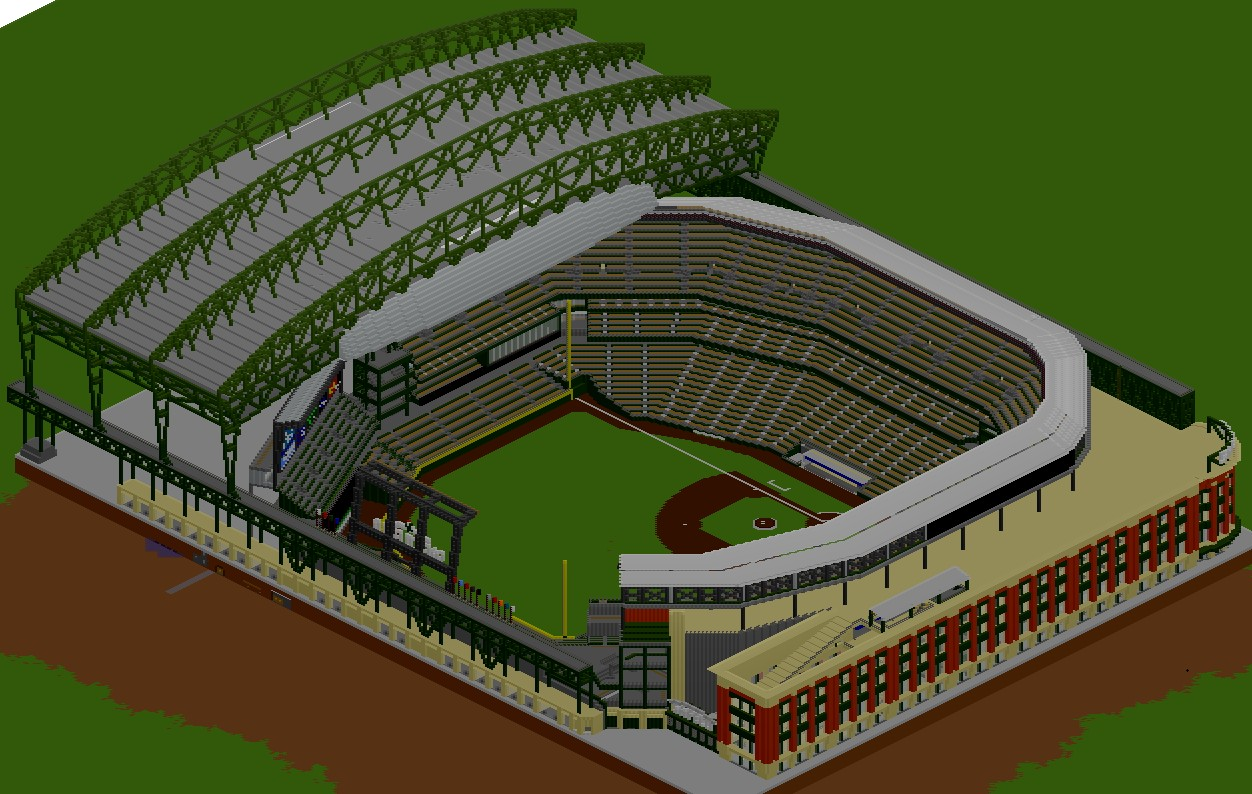 Baseball Stadium Safeco Field Minecraft Project