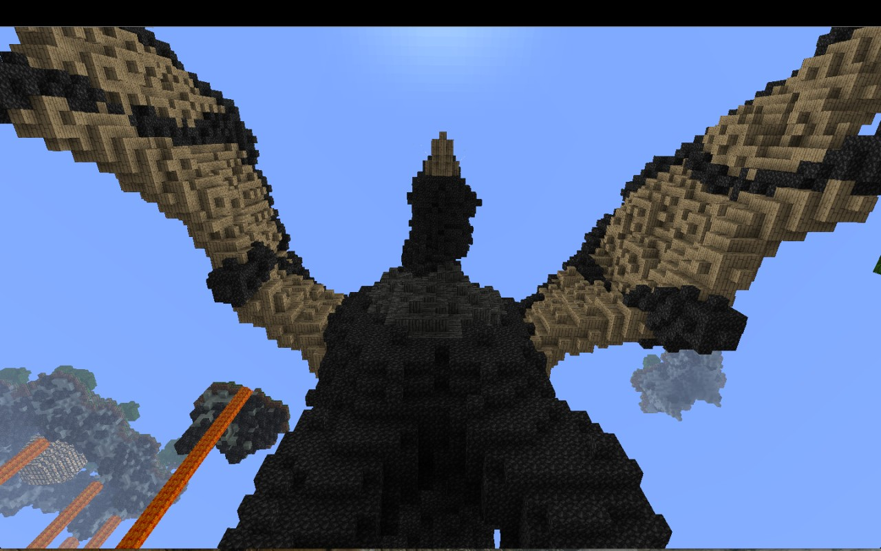 how to build a flying dragon in minecraft