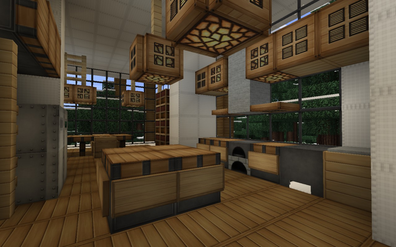 Modern house series 3 minecraft project for Kitchen ideas minecraft