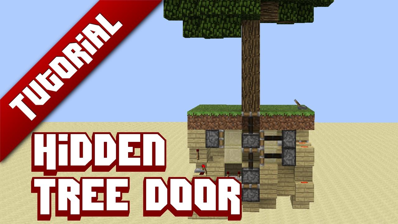 tutorial hidden tree door minecraft project