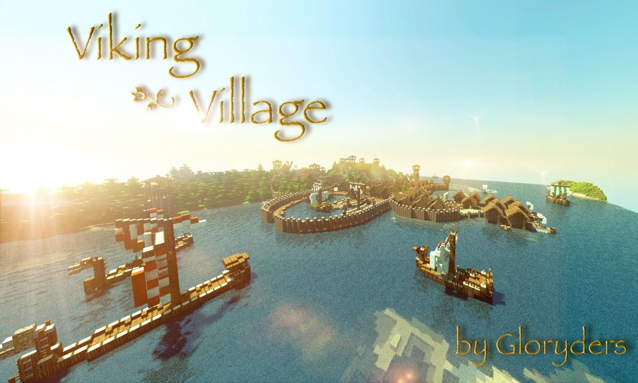 Viking Village With Harbour Minecraft Project - Minecraft wikinger hauser