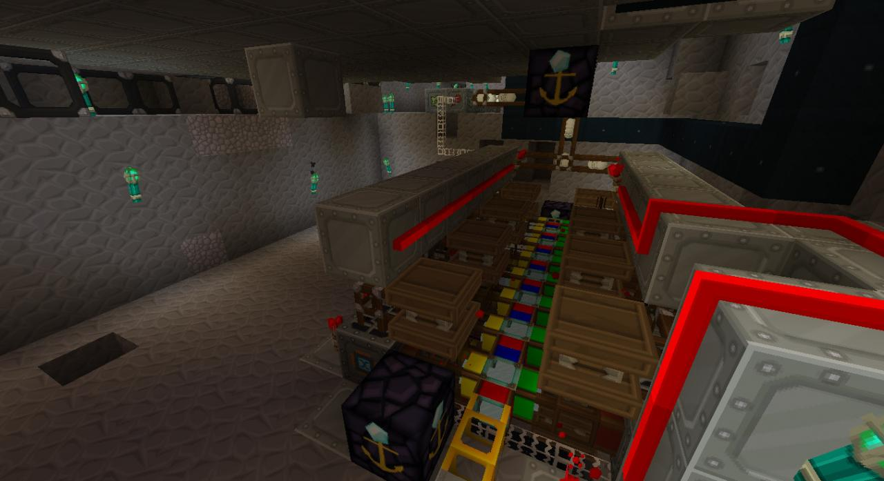a bank of 16 compressor pushing 64 blocks of ice per tick