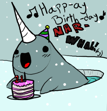 Birthday Party Narwhals Only Accepting Tenishacruz Too