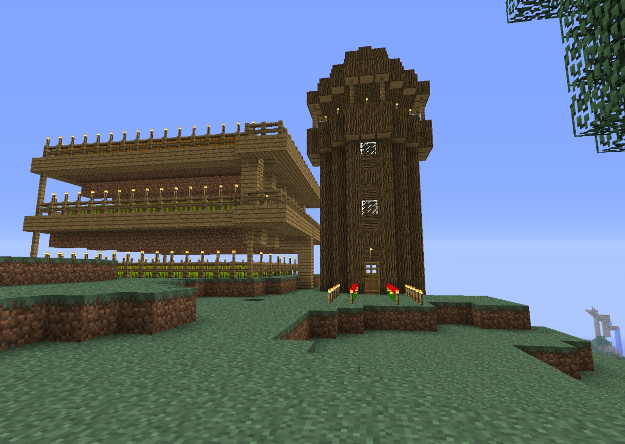 The Wooden Tower Minecraft Project