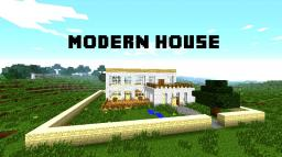 My first modern house - WITH DOWNLOAD :) Minecraft Map & Project
