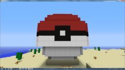 A 3D pokeball Minecraft Map & Project