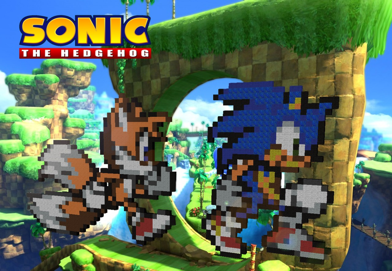 Sonic 2D Race Minecraft Project