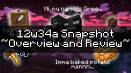 12w34a Snapshot - Overview and Review Minecraft