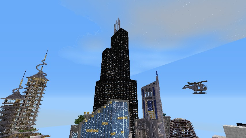 Willis Tower Skyscraper Chicago Minecraft Project