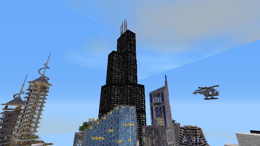 Willis Tower Skyscraper Chicago Minecraft Project