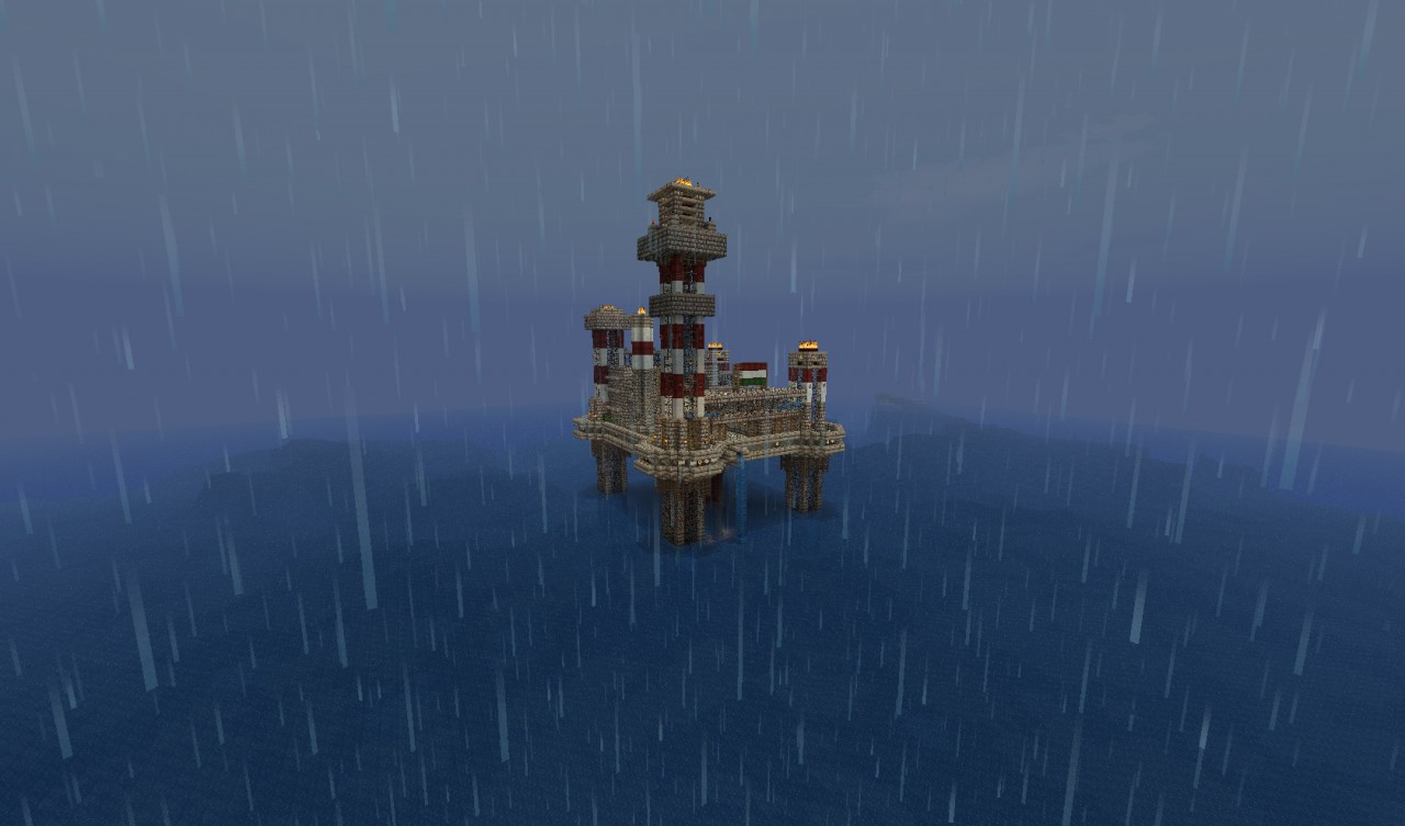 Oil Rig Mob Platform Minecraft Project