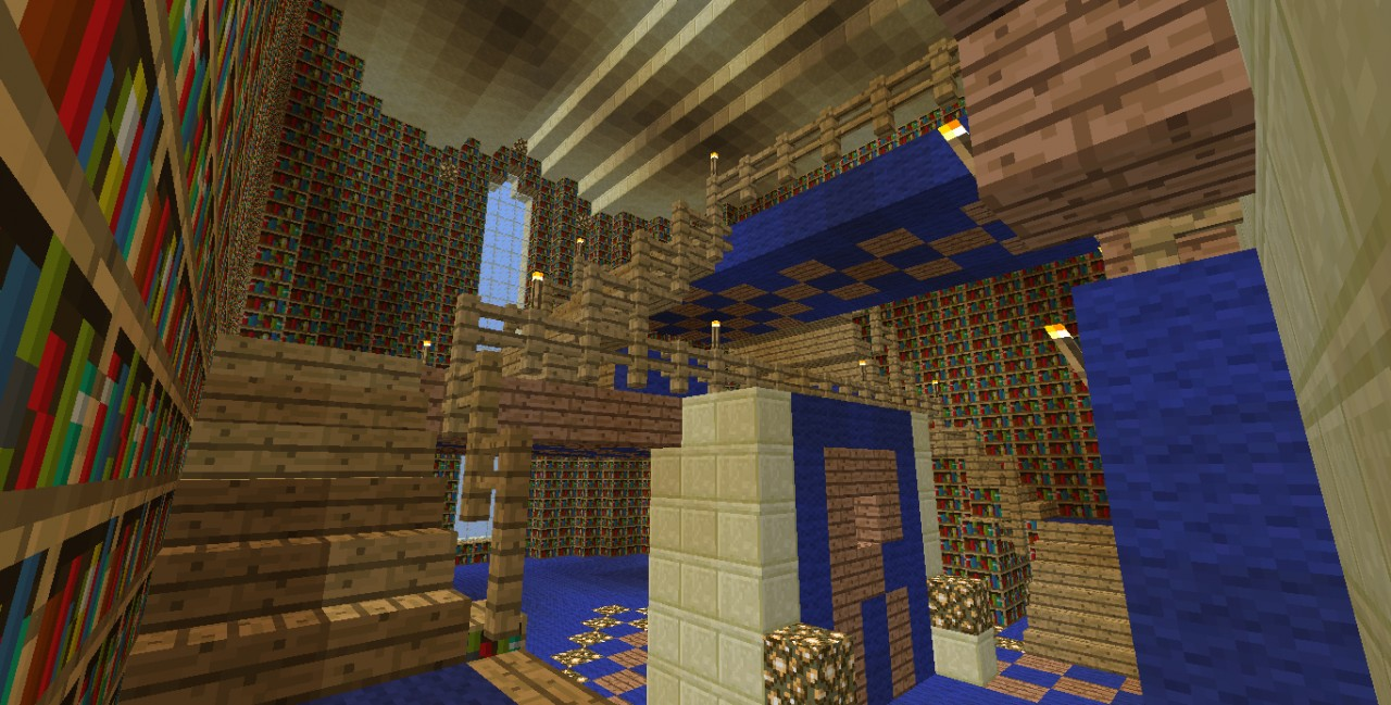 Gryffindor Common Room Minecraft canon-accurate Hogwart...