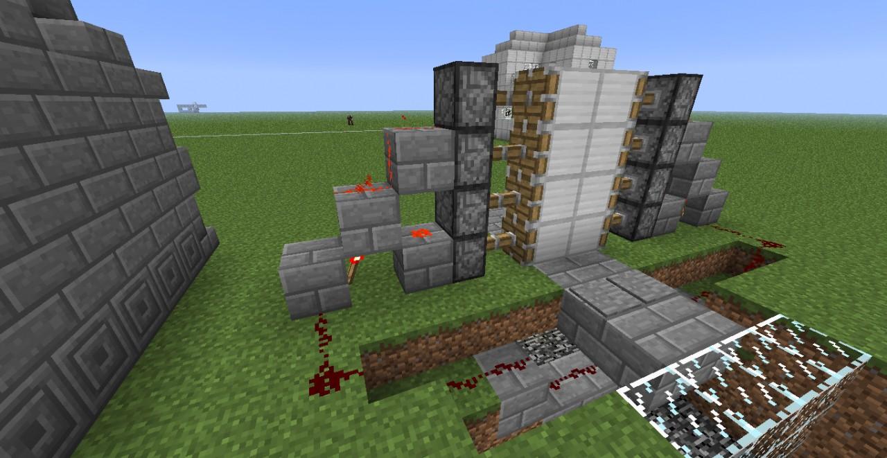 Super Easy 2x4 Redstone Door Minecraft Project