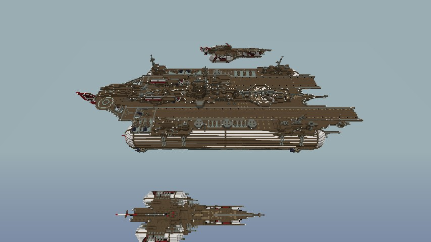 the mothership v2 airship carrier minecraft project