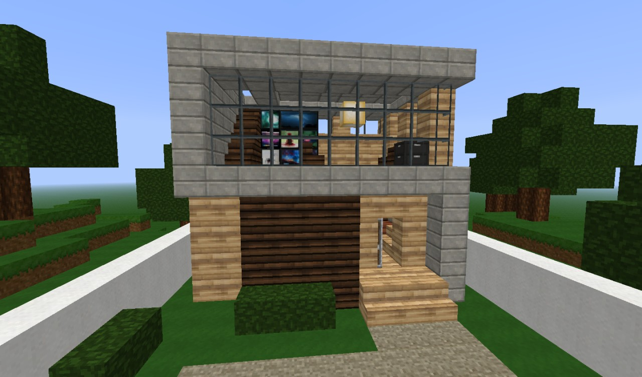 Simple modern house minecraft project for Houses to build