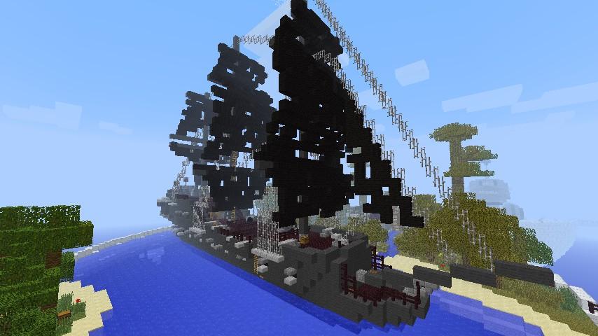 майнкрафт 0.13.1 карта пиратский корабль #7
