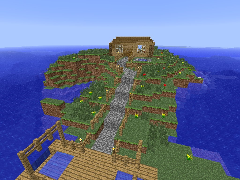 how to make a boat dock in minecraft