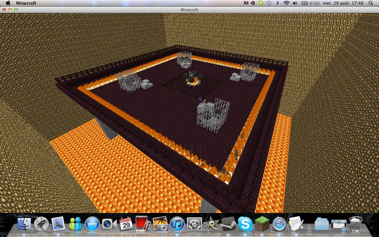 minecraft hunger game ( nether arena edition ) minecraft project
