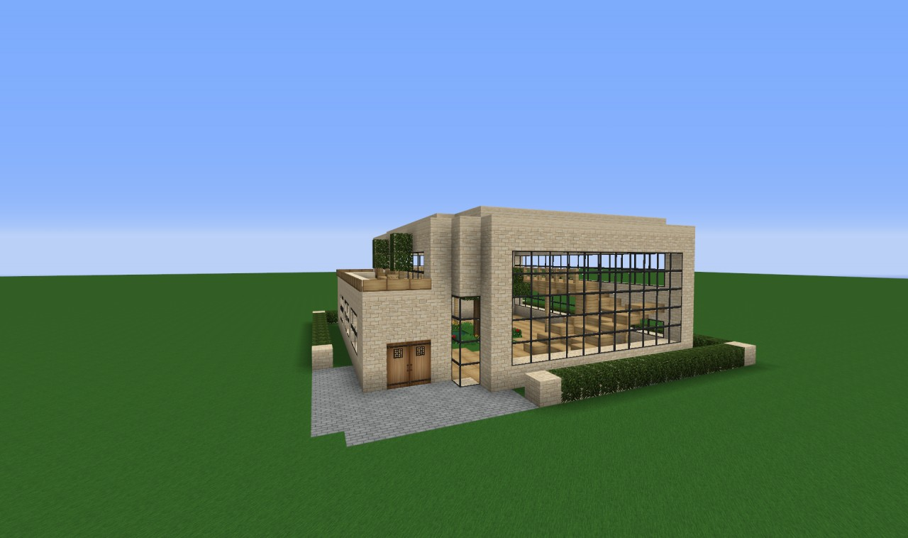 Modern house 20x20 ground minecraft project for 20x20 house