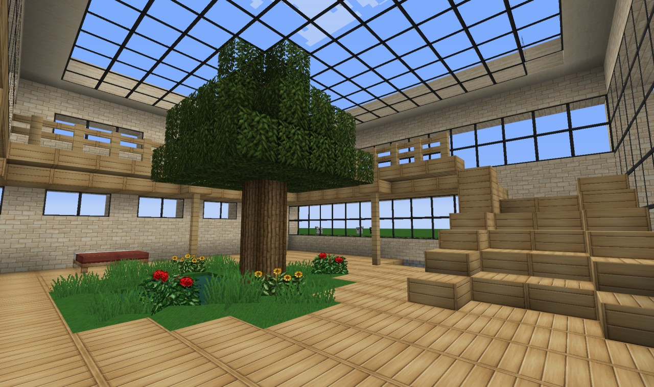 Modern House 20x20 Ground Minecraft Project